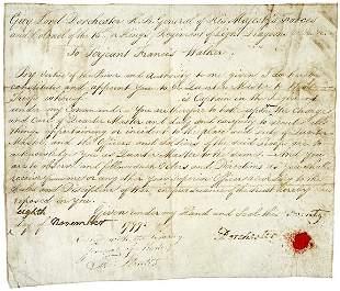 Lot 21: Sir Guy Carleton Signed Document - 1799