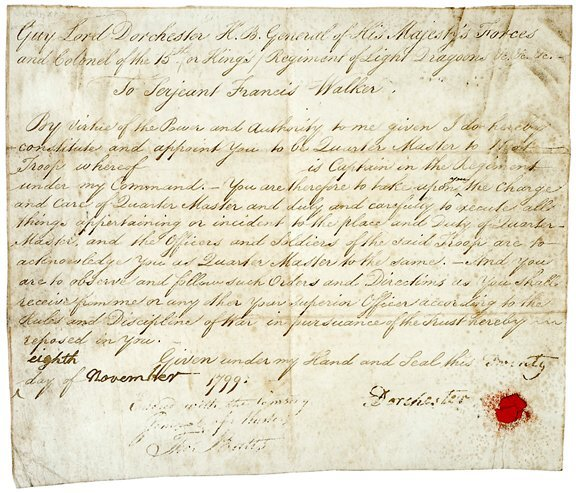 Lot  21: Sir Guy Carleton Signed Document - 1799