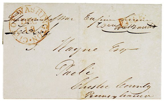 Lot  23: Lewis Cass Signed Free Frank 1832