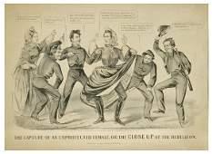 Civil War Lithograph Jefferson Davis Cameron