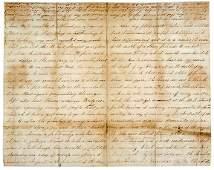 1865 Letter Lincoln Assassination