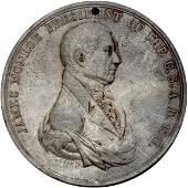 Lot 872: 1817 James Monroe Indian Peace Medal