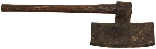Revolutionary War Gooseneck Coopers Broad Axe