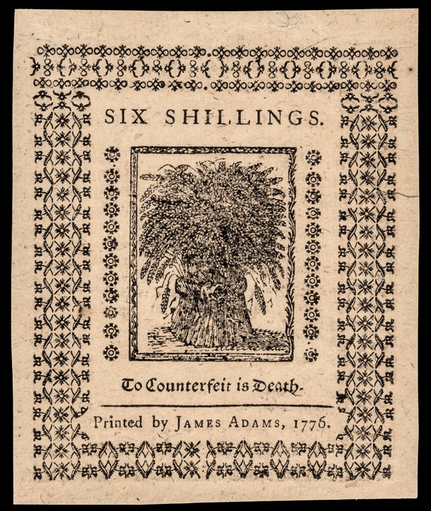 Colonial Currency DE. Jan 1776 PMG GEM UNC 65EPQ - 2