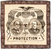 1896 Pres Campaign Bandana Sound Money Candidates
