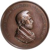 1862 ABRAHAM LINCOLN Indian Peace Medal Ch Mint