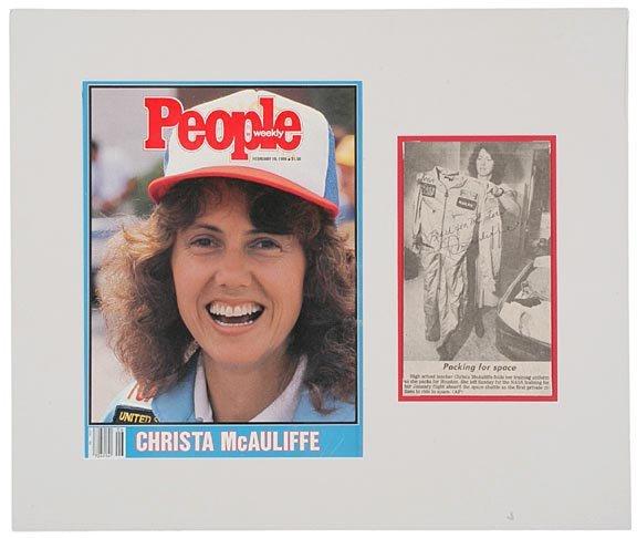 2001: ASTRONAUT, CHRISTA McAULIFFE Signed Picture