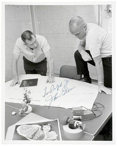 2002: Astronaut JOHN GLENN Signed Photo, 1962