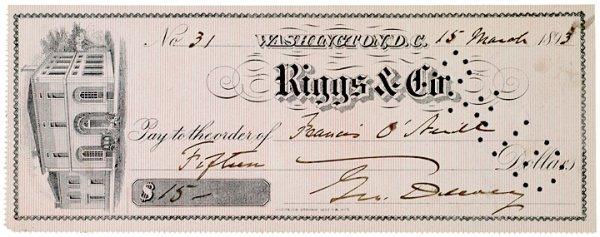2011: GEORGE DEWEY, Check Signed, 1893