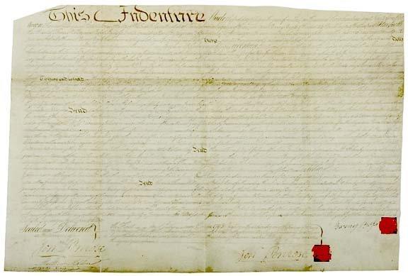 2015: Manuscript Deed Involving ROBERT MORRIS, 1795