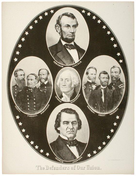 2058: Abraham Lincoln Campaign Poster, c. 1864