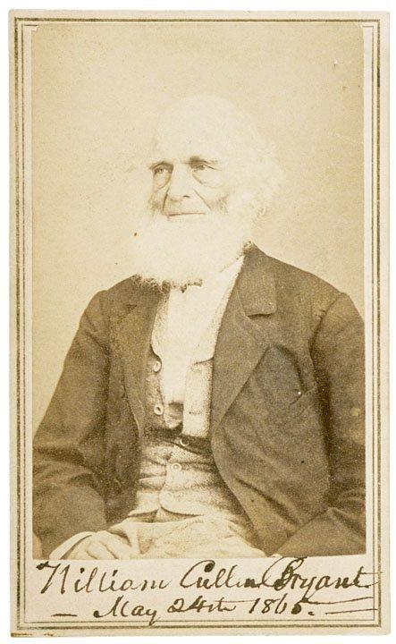 3003: WILLIAM CULLEN BRYANT, Signed CDV, 1865