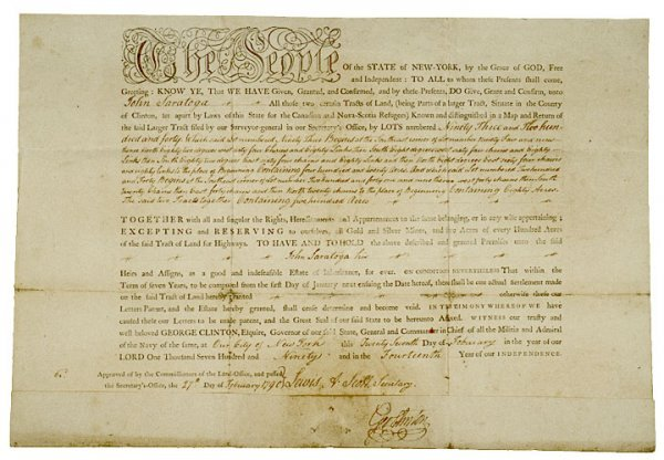 3007: GEORGE CLINTON, Signed Document 1790
