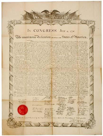 3010: Broadside Print, DECLARATION OF INDEPENDENCE