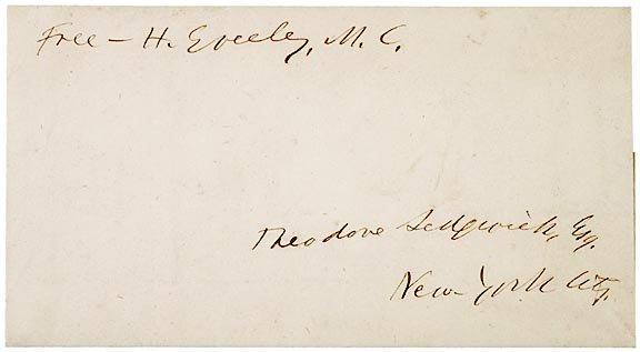 3013: HORACE GREELEY, Newspaper Editor, Free Frank