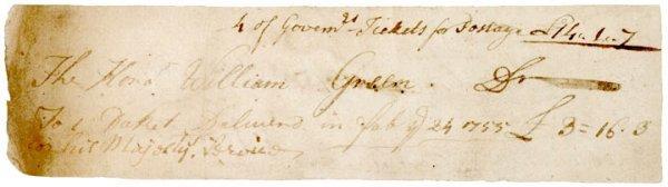 3014: Governor WILLIAM GREENE, 1755 Document Signed