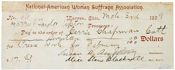3: SUSAN B. ANTHONY, 1899 Order Signed
