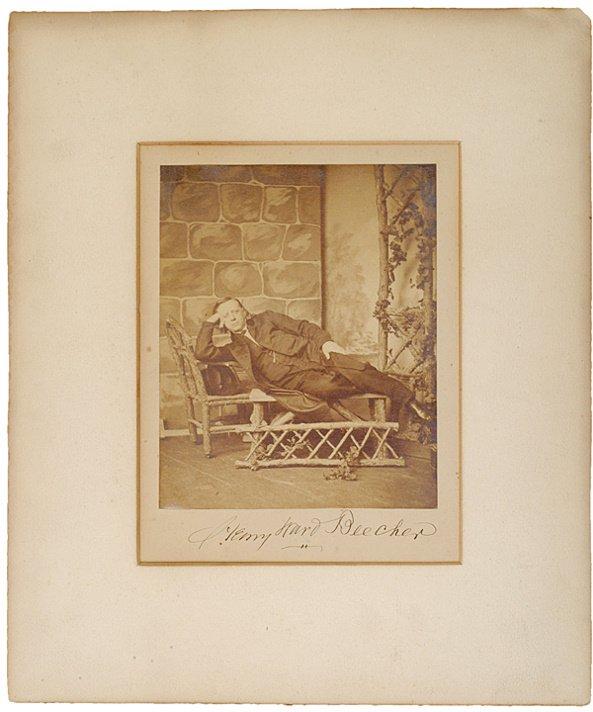 6: HENRY WARD BEECHER, Signed Photograph