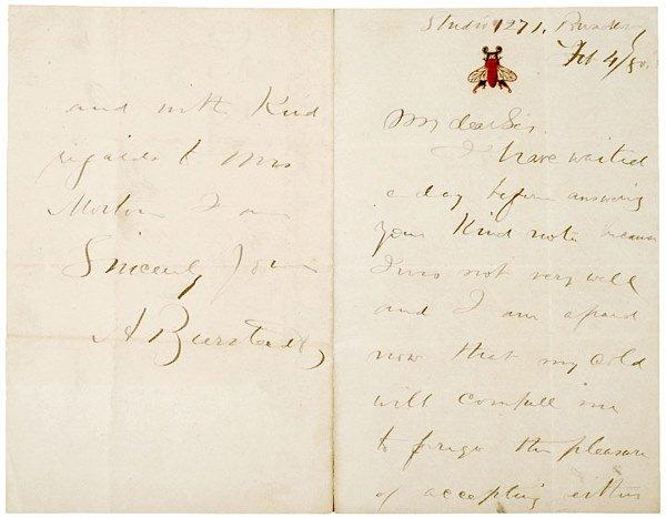 9: ALBERT BIERSTADT, Autograph Letter Signed