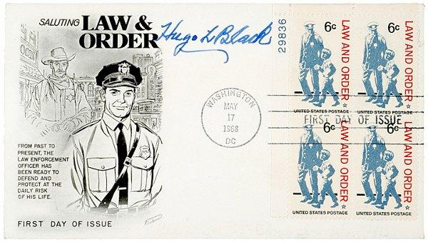 12: Associate Justice HUGO L. BLACK Signed Cover