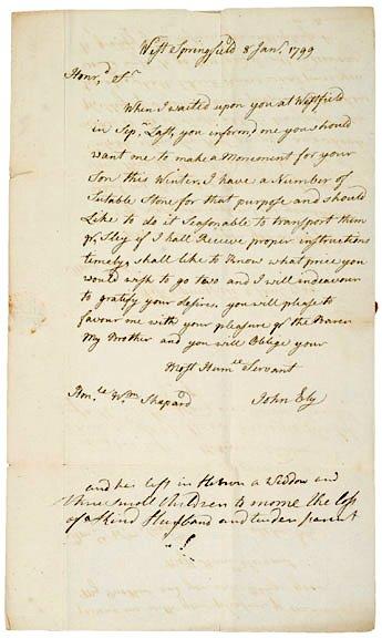 13: Sculptor, JOHN BLY, Autograph Letter Signed