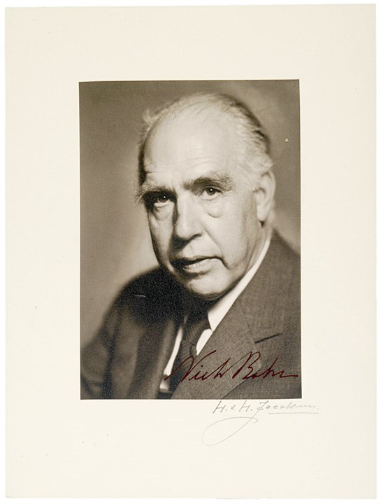 14: Rare NIELS BOHR Photograph Signed