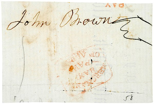 17: Harper's Ferry Leader JOHN BROWN Clip'd Signature