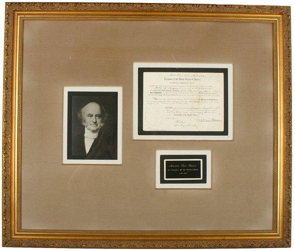 20: President MARTIN VAN BUREN Document Signed