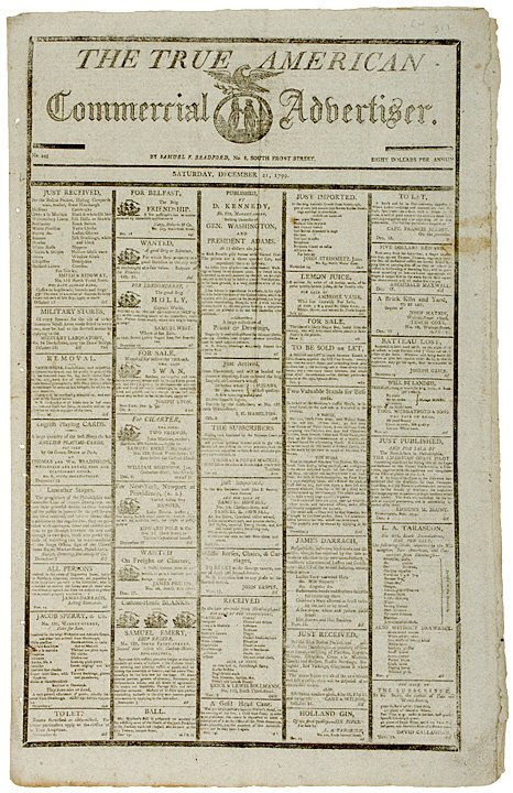 306: The Death of George Washington 1799 Report