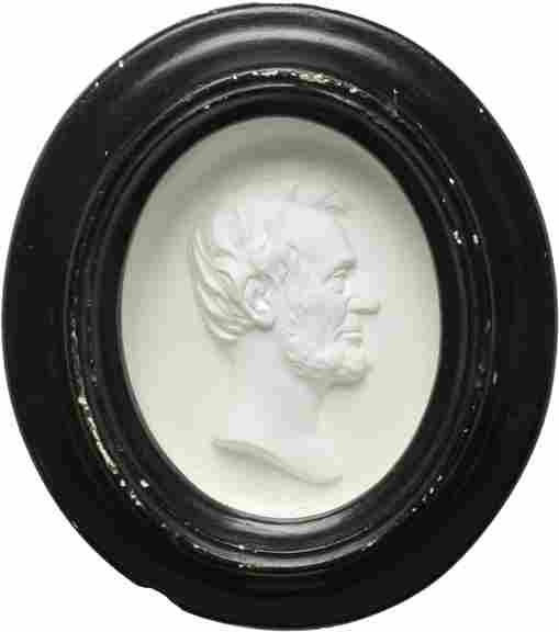 447: c. 1865 Framed Lincoln Plaster Relief
