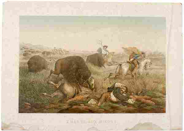 506: Rare Hand-Colored Lithograph of Early California