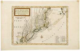 752 H Molls Earliest Map of New England