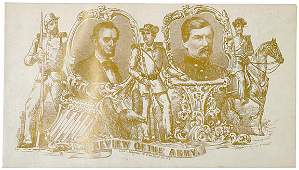 4153: Envelope with Lincoln and McClellan, c. 1860