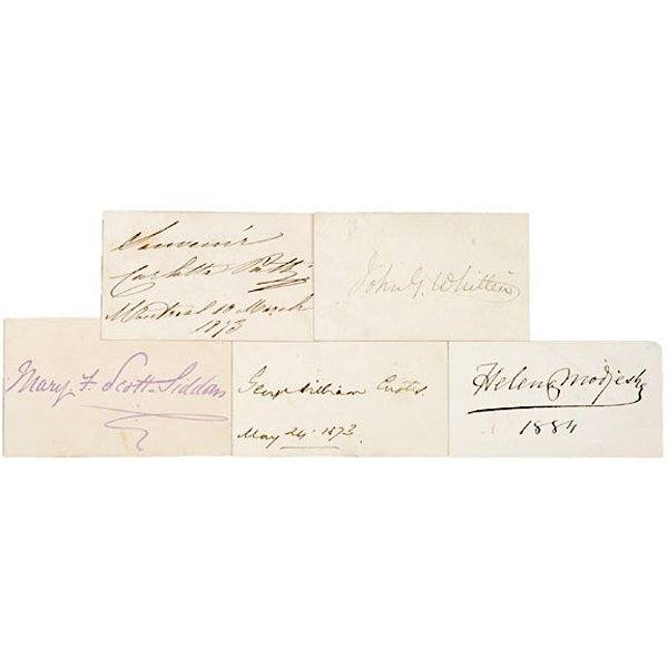 5005: AUTOGRAPH ALBUM: Five 19th Century Authors