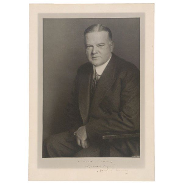 5018: HERBERT HOOVER, Signed Photo