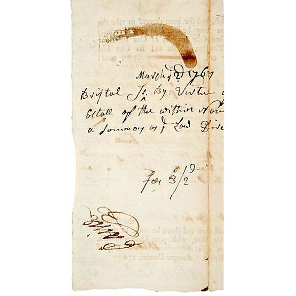 5022: ROBERT TREAT PAINE, Signed Document