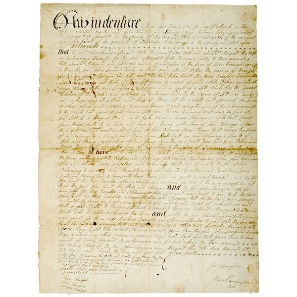 5024: 1779 Revolutionary War Era NY Land Indenture