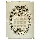Broadside Print of 25 Union Generals, 1864