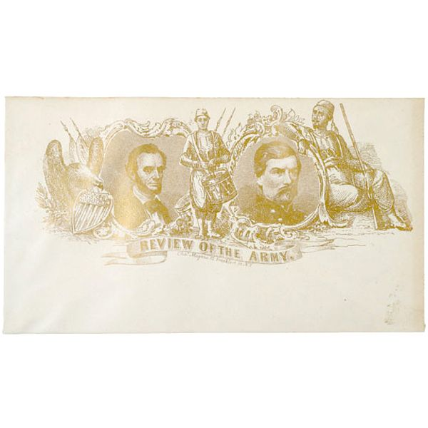 Civil War Envelope Cover of Lincoln and McClellan
