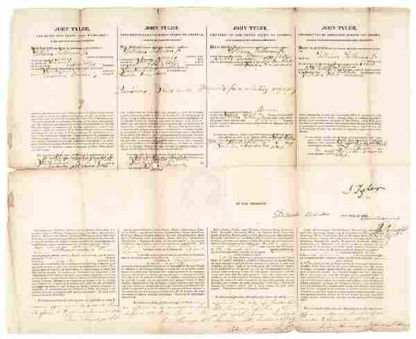 President JOHN TYLER + DANIEL WEBSTER Document