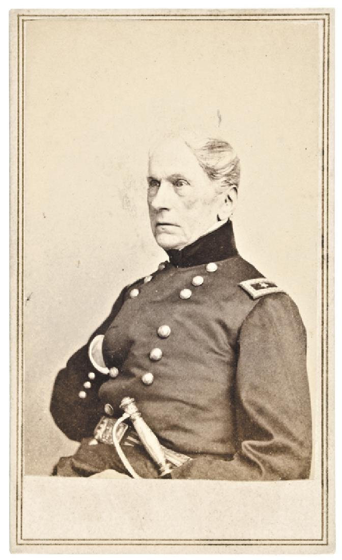 CDV of Civil War General JOHN WOOL by Anthony