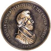 1862 ABRAHAM LINCOLN Indian Peace Medal J IP38