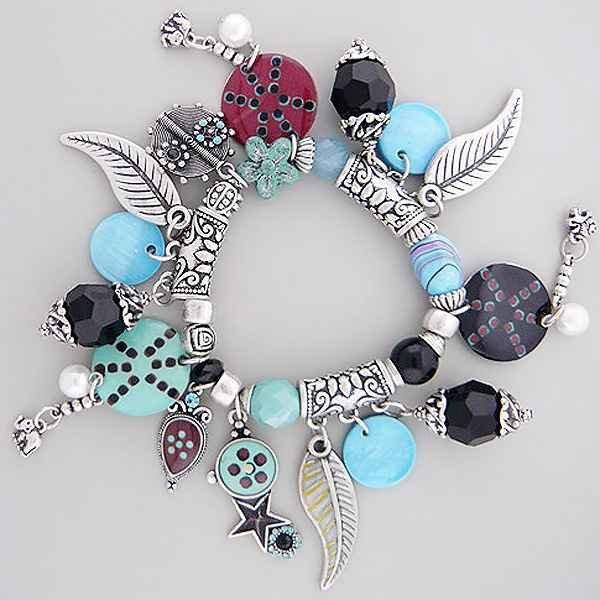 Turquoise Color Charm Bracelet