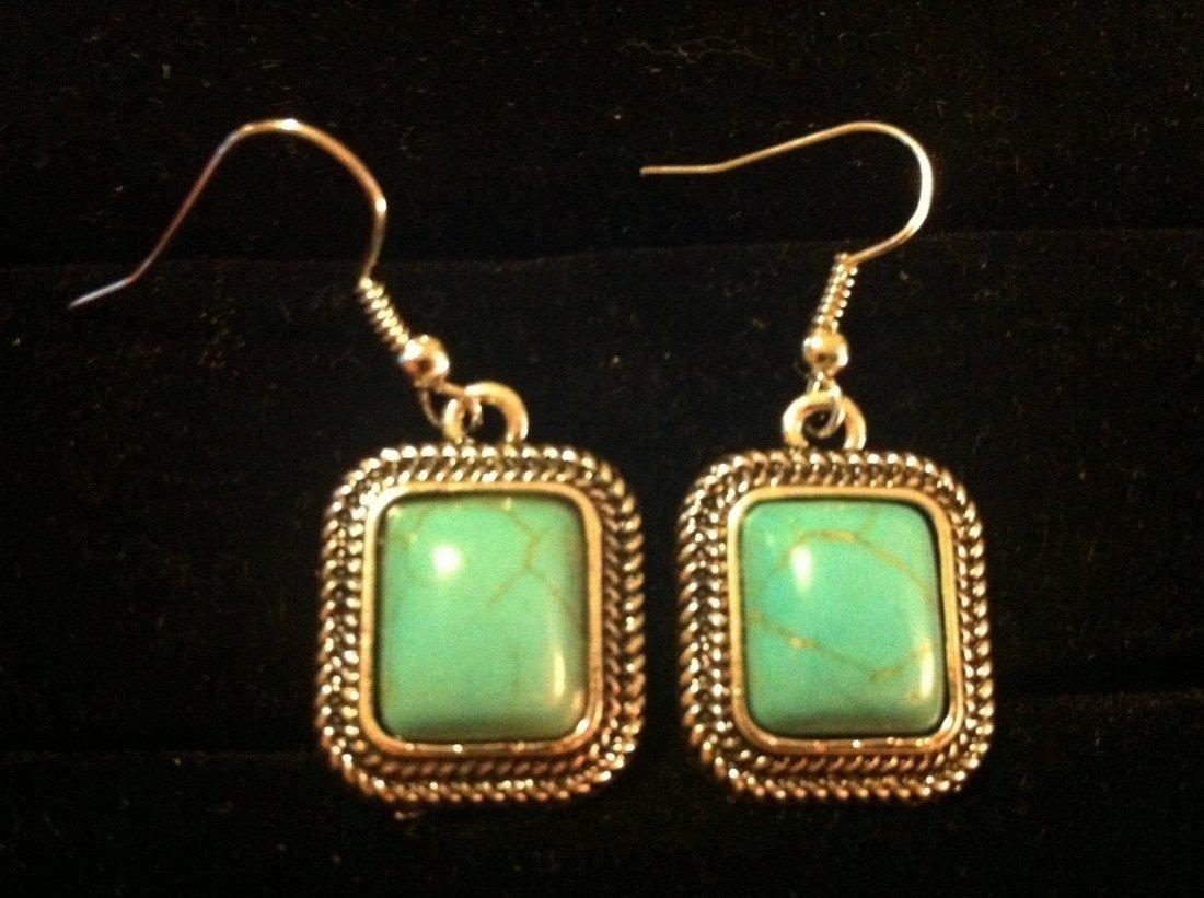 Turquoise Color Dangle Earrings