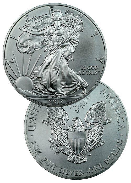 2013 AMERICAN SILVER EAGLE GEM BU 1 TROY OUNCE .999