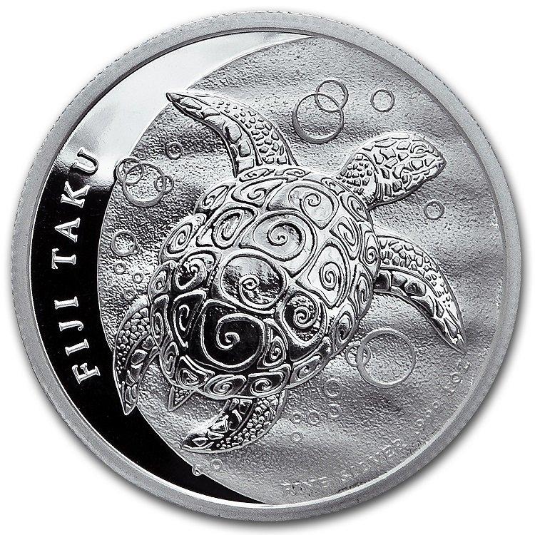 2013 1 oz Silver New Zealand Mint $2 Fiji Taku Coin