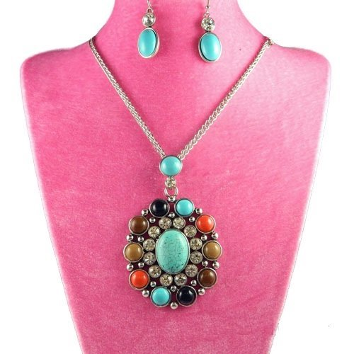 Pendant Necklace with Matching Earrings
