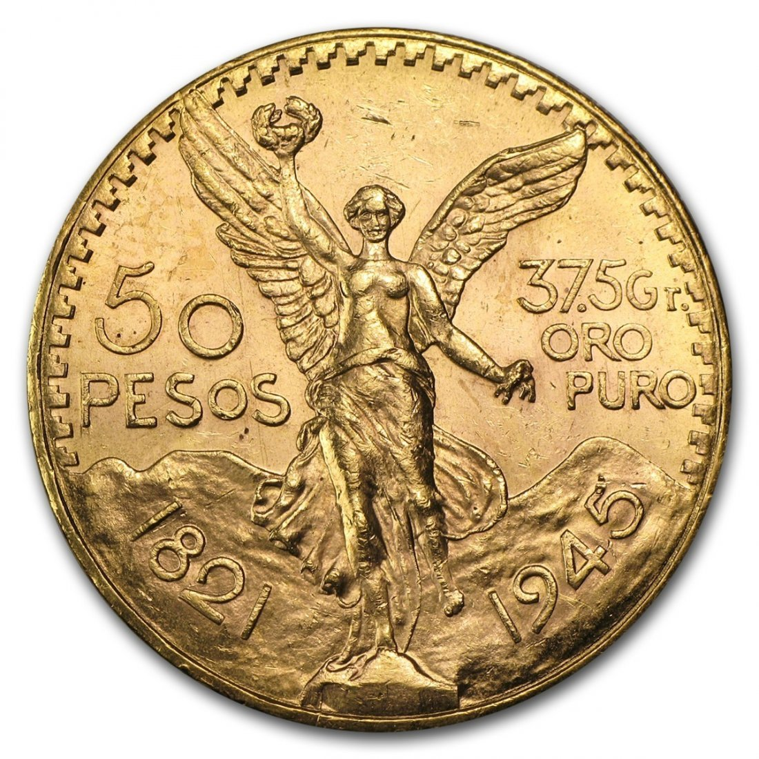 Mexican 50 Pesos Gold Coin - AU or BU