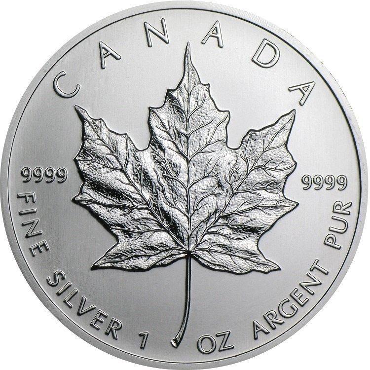 2013 1 oz Silver Canadian Maple Leaf Coin
