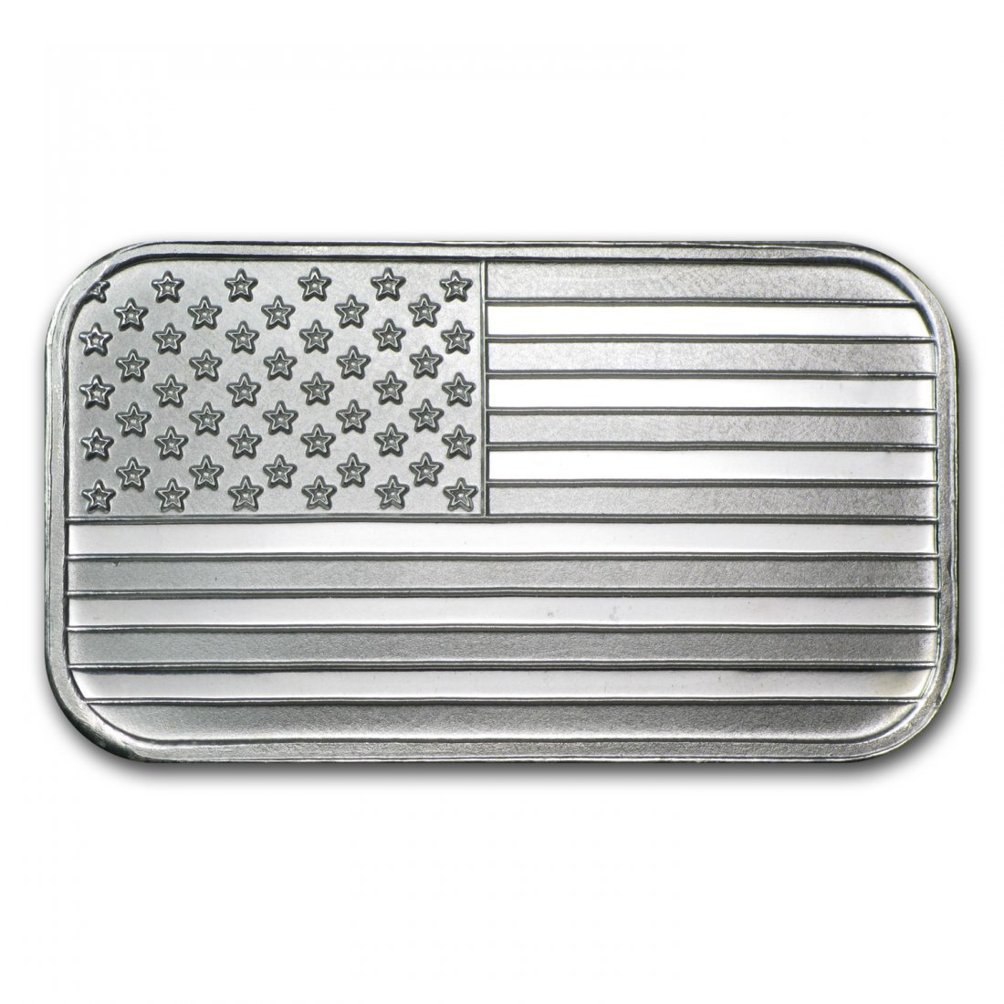 1 oz Pure Silver American Flag Design Bar